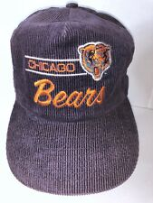 VINTAGE CHICAGO BEARS CORDUROY SNAPBACK HAT CAP NFL 1e747bf7a