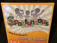 """Spontuneous """"The Game Where Lyrics Come To Life"""" Family Singing Board Game New!"""