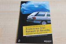 115857) Renault R 21 + Nevada Prospekt 198?