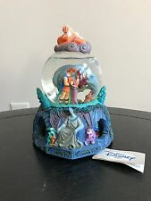 Rare Disney Hercules Snow Globe with Music and Rotating Base