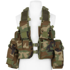 Mfh South African Assault Vest Tactical Pouche Adjustable Airsoft Woodland Camo