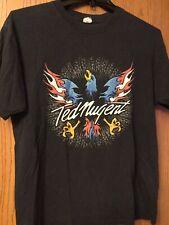 Ted Nugent.  Eagle On Front.  Black Shirt.  L.