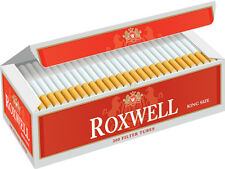 5 Cartons Roxwell Original King Cigarette Filter Tubes Red (1 Sleeve)