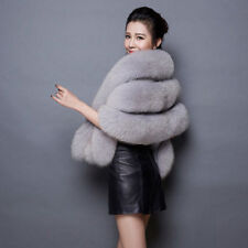 Women Wedding Faux Fur Shawl Stole Wrap Shrug Scarf Cape Party Evening Warm Coat