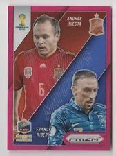 2014 PRIZM FIFA WORLD CUP BRAZIL ANDRES INIESTA & FRANCK RIBERY MATCHUPS 127/149