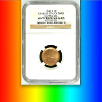 1946-S NGC MS66 RED Capped Die ☗ $130,000 for AU █ Unique! Lincoln Wheat Cent 1c
