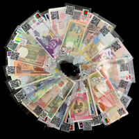 Lot Set 52 PCS Different Banknotes From 28 Countries, with labels, UNC