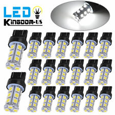 20x Pure White 7443 7440 5050 18 SMD LED Tail Brake Stop Turn Signal Light Bulbs