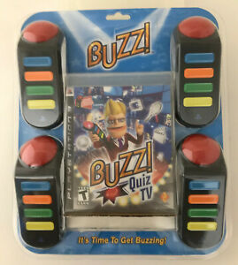 Buzz Quiz TV (Sony PlayStation 3, 2008) WITH ( 4-  WIRED BUZZERS) brand new ps3