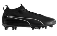 PUMA Evoknit Firm Ground Mens Football Boots Black Size UK 11 US 12 *REFCRS37