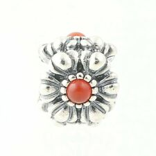 NEW Pandora Birthday Blooms July Birthstone Charm - Sterling Carnelian 790580CAR