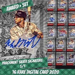Topps Bunt Cody Max Award + Set (1+15) Parchment Silver Signature 2020 Digital