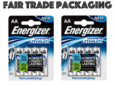 Genuine 8 x Energizer Ultimate AA Lithium Batteries Digital Camera 1.5v LR6 L91