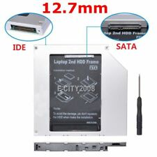 Universal 12.7mm PATA IDE to 2nd SATA HDD Hard Drive Disk Caddy Module Laptop