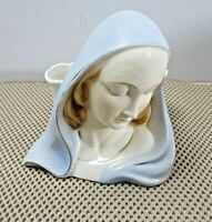 "Vintage Ceramic Madonna Virgin Mary Planter Vase 5.5"" x 4.5"""