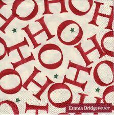 6 x PAPER NAPKINS for Decoupage EB HOHOHO ALLOVER Christmas COCKTAIL SIZE