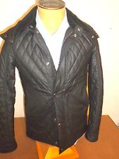Belstaff Waxed Quilted Cotton Winstead Trim Fit Jacket NWT Small $1095 Black