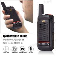 Mini Walkie Talkie UHF 5W 16CH CTCSS DCS 4500mAh Two Way Radio High Power