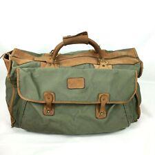 Vintage Gokey Orvis Duffel Bag with Gokey hunting logo Green Canvas Leather