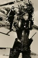 1990 HERB RITTS Female Spy Fashion Stephanie Seymour Helicopter Photo Art 12x16