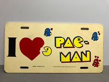 Vintage Orignal Midway Arcade I Love Pac Man License Plate