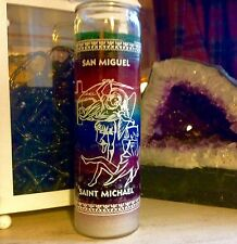 Saint Michael 7 Day Devotional, Fixed Glass, Mulit 7 coloured, Spell Candle