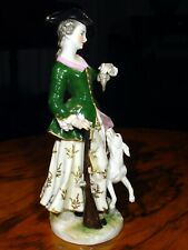 Porcelaine figurine statuette Allemagne chasseresse LUDWIGSBURG?