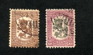 Finland - Sc# 116 & 118 Used     -      Lot 0121036