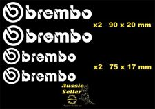 Brembo  vinyl cut  decal kit    Four (4) pieces  Small...sizes in  pictures