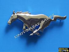 HORSE CHROME FORD MUSTANG GRILLE FRONT EMBLEM LOGO PONY 1999 - 2004 BRAND NEW