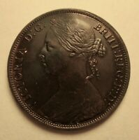 1887 Great Britain One Penny XF+ Cleaned Priced Right Shipped FREE         R34