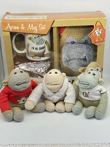 Pg tips most famous monkey Gordon Apron & Mug/cup Box Set 2018 + 3 Free Monkeys