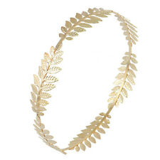 Bright Charming Gold Leaf Hair band Headband Hair Accessories for Elegant Ladies