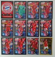 2019/20 Match Attax UEFA Soccer Cards - Bayern Munich Team Set inc shiny