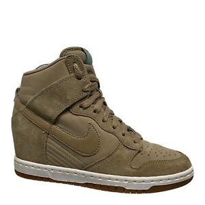 Nike Dunk Sky Hi Essential Hidden Wedge Shoes Desert Camo Rare Women Size 6 VGUC