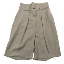 NWT Studio C Beige Pleated Cuffed Shorts Women's Size 10