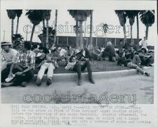 1969 1960s Youth Wait For Palm Springs Pop Festival to Begin Press Photo