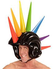 Punk casco con ramponi gonfiabile NUOVO-CARNEVALE CAPPELLO BERRETTO COPRICAPO