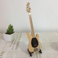 Mini E Bass Gitarre mit Ständer Modell für 1: 6 Puppenhaus Zubehör Nr. 2