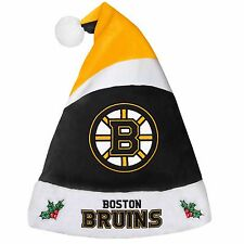 Boston Bruins Team Logo Holiday Plush Santa Hat NEW! Christmas 2016