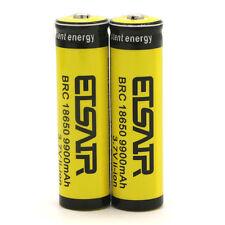 2pcs 18650 3.7V 9900mAh Rechargeable Li-ion Battery Yellow Batteries USA Stock