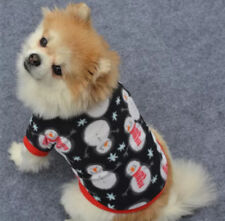 CUTE DOG PUPPY CHRISTMAS SNOWMAN FLEECE JUMPER PYJAMAS TOP CLOTHING - FREE P&P!