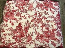 Madison Collection Toile Garden King Pillow Sham 21�x37� Red Multi