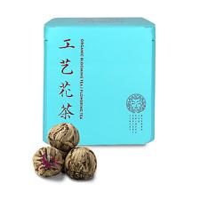 Organic Flowering Blooming Tea - 12 Tea Balls 6 Natural Flavors - Wonderful Gift