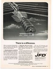 1969 JFD LPV Log Periodic Television Antenna Vtg Print Ad