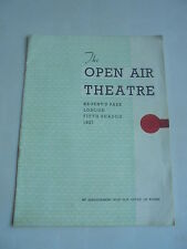 1937 REGENTS PARK OPEN AIR THEATRE PROGRAMME  THE TEMPEST