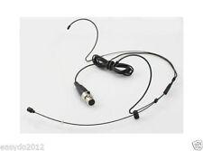 Dual Black Omni-directional Headset MIC JPA Headworn For Shure Wireless set SLX1