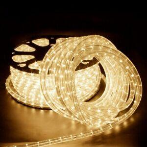 6 m LED Lichtschlauch Warmweiß Lichterschlauch Schlauch Außendekoration IP65 DHL