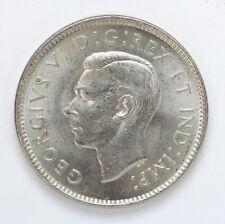 1937 Canada 5 Cents George VI Km33 Dot - CH BU #01271907g
