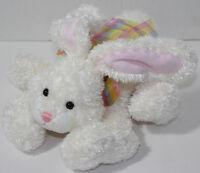 Gund LUCKY White EASTER BUNNY RABBIT w/ PLAID NECK BOW Stuffed Plush Animal TOY